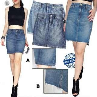 LOFT Pencil Zip Front Denim Skirt A & B