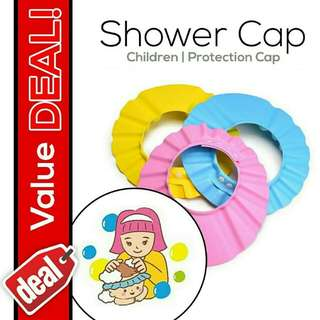 🔥READY STOCK🔥Kids Protection Soft Shower Cap Hat Bathing🔥