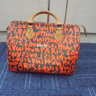 AUTHENTIC LOUIS VUITTON LIMITED EDITION GRAFFITI SPEEDY 30 BAG