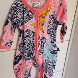 Baby girl Bonds onesie