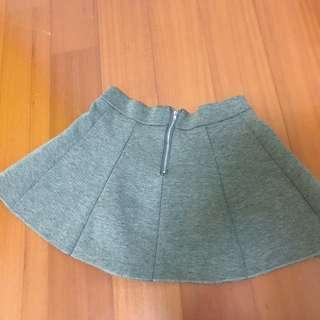 ♥️灰色拉鍊短裙♥️