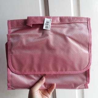 Tas Make Up Beauty Toiletries (Soft Pink)