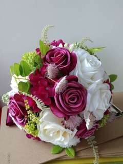 紅色玫瑰花球 (結婚/pre-wedding均可)