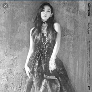 WTB/LF TAEYEON MY VOICE I GOT LOVE VERSION (UNSEALED/SEALED)WITH PC OR W/O PC