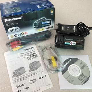 Video Camera Panasonic HDC-SD80 Full HD
