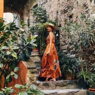 Anupamaa - Orange Egyptian Dress ✧ Tara Milk Tea