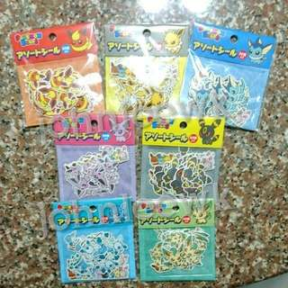 [INSTOCKS] POKEMON Eevee And Friends Stickers From Pokemon Centre