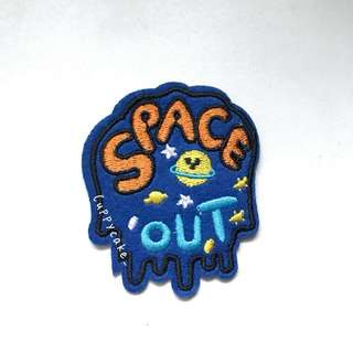 Space Out || Novelty iron on patch ||