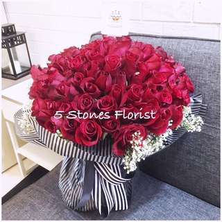 99 Roses fresh flower bouquet- for proposal and wedding anniversary