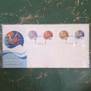3× ASEAN submarine cable network first day cover 1983