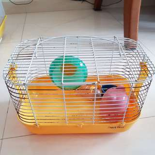 Small Hamster Cage/carrier with accessories