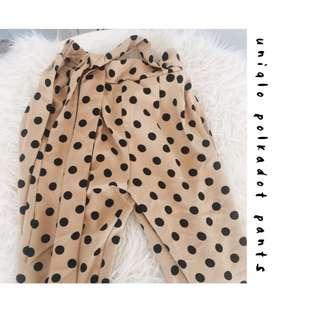 UNIQLO POLKADOT PANTS ( celana uniqlo )