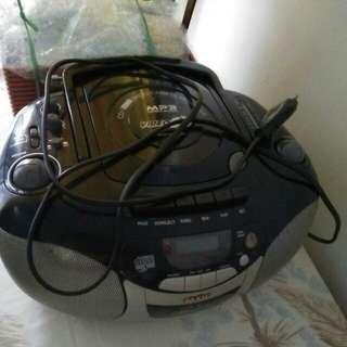 Radio casette recorder, boleh nego tipis, ada casettenya