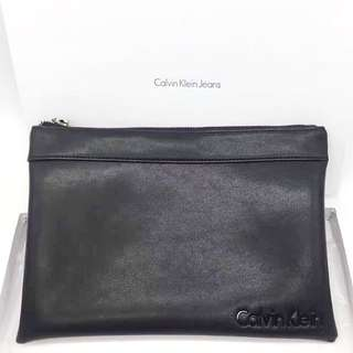 Authentic Calvin Klein CK large hand clutch pouch bag