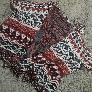 H&M Aztec Knit Kimono/Poncho