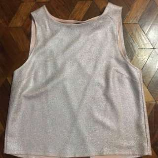 Dorothy Perkins sleeveless pink open back blouse