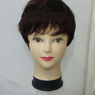 Dark Brown Mahogany Short Wig