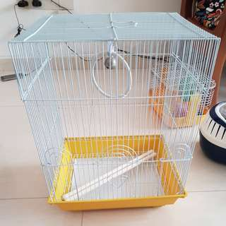 Bird Cage with ring and perch