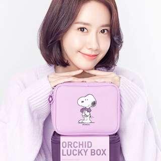 Quick Preorder >> innisfree x orchid lucky box / snoopy lamp / light lilac purple / dark purple set