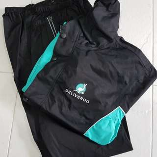 (RESERVED) Deliveroo raincoat