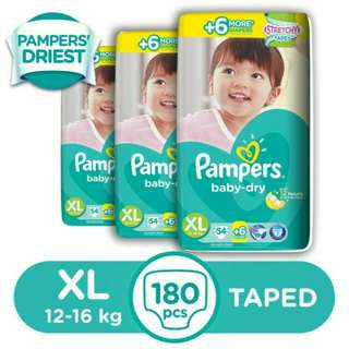 Pampers Baby Dry XL 60s - 3 packs