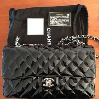 Classic Chanel patent leather bag