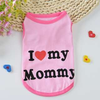 [On sale]Fur Kids in I Love My Mummy Vest ~Suitable for Hot Summer~