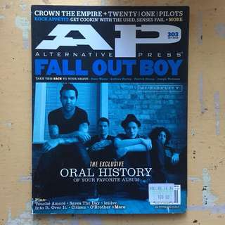 Alternative Press Magazine Fall Out Boy