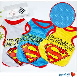 [On sale]Fur Kids in Superman Vest ~Air Cool Material~ Suitable for Hot Summer