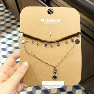 Pull & Bear myrtle choker+necklace set