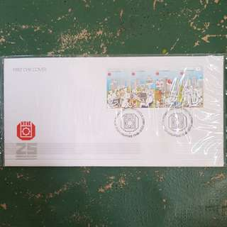 3× ntuc 25th anniversary first day cover FDC