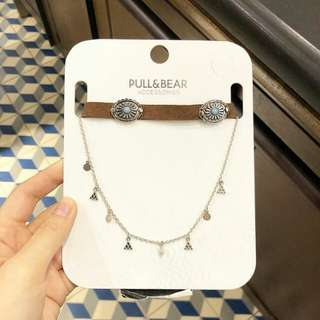 Pull & Bear cowboy choker+necklace set
