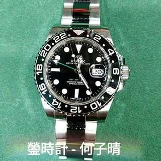 Rolex 116710 綠針GMT  亂碼 93%新淨 跟出世卡