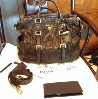 Prada lamp leather bag mm size