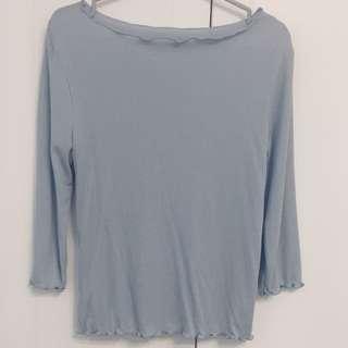 pazzo花邊針織內搭上衣-藍L