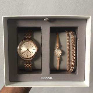 Jam tangan fossil rose gold