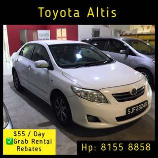 Toyota Corolla Altis 1.8 - Grab Car Rental