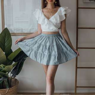 Tree Of Life - Light Blue Short Skirt ✧ Tara Milk Tea