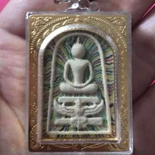 Phra Somdej ride Garuda with Lp Pae (Acrylic Case)