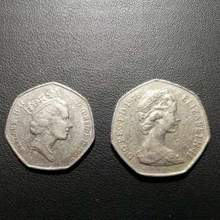 每個 英國 硬幣