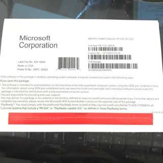 Ms window 10 Pro oem 64 bit (cd+code)