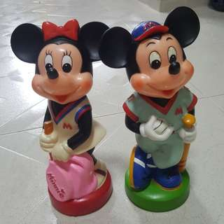 Retro Mickey and Minnie Mouse Coin Bank  @ $30