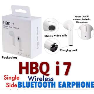 HBQ i7 Wireless Bluetooth Earphone (Single Side)