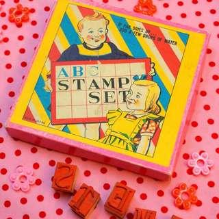 古董ABC兒童印章玩具組