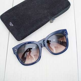 Authentic Céline new Audrey sunglasses Blue
