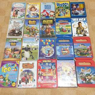 Lot of 20 DVDs Various titles Ice Age, Bob the builder