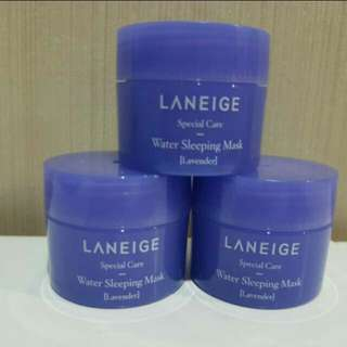 Laneige water slewping mask lavender trial kit