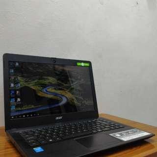 Laptop Acer One 14 - Z 1402 Warna Hitam Doff serat kayu