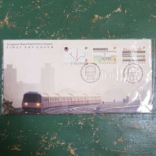 13× mrt smrt Singapore Mass rapid transit system first day cover 1988 commemorative stamp issue