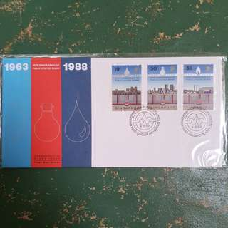 11× 1963 1988 25th anniversary of PUB public utilities board SP Singapore power commemorative stamp issue